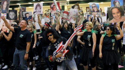 Blackout pep rally lights up arena