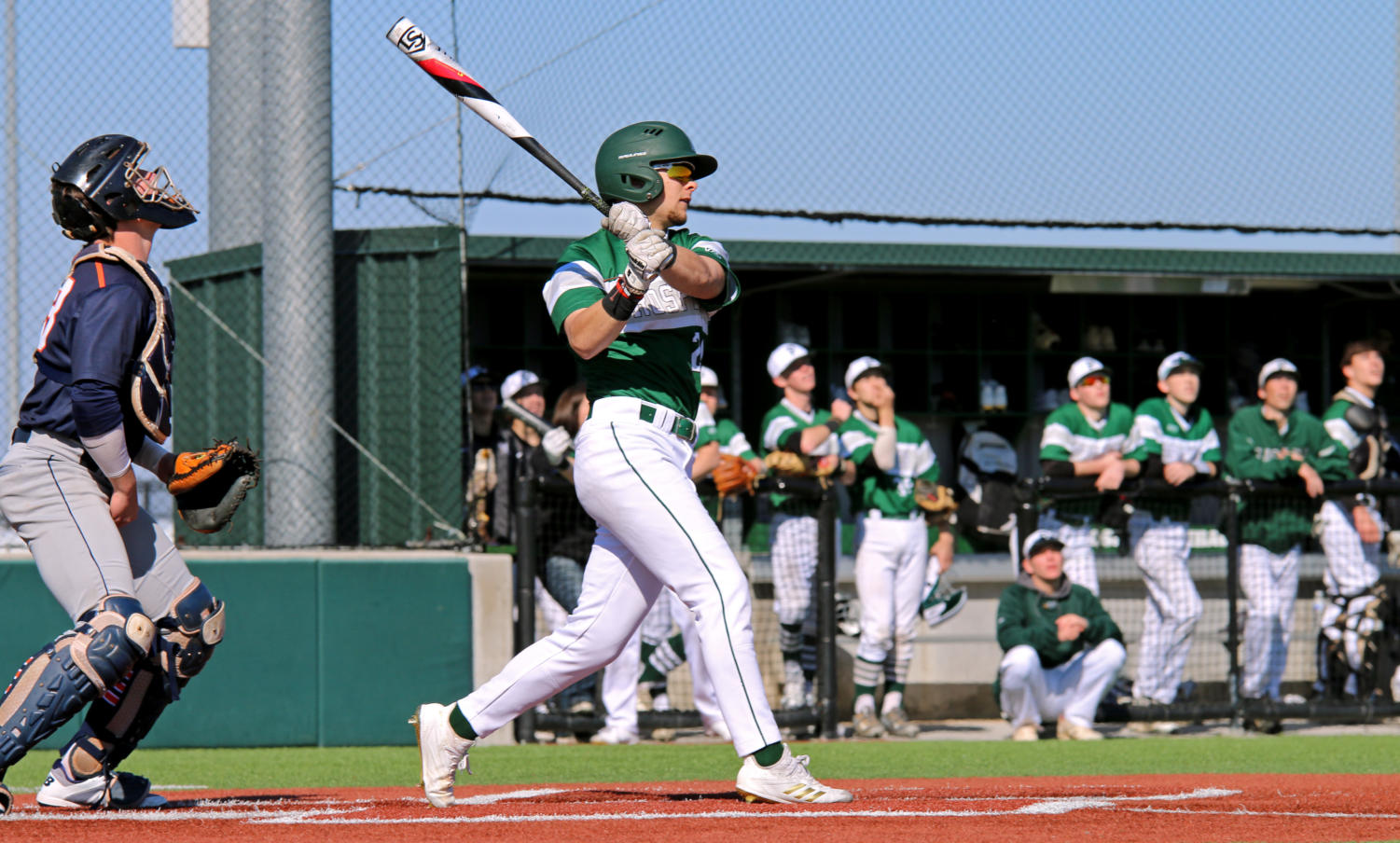 Senior Kendall Foster takes an at-bat during a game against Sachse.