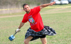 Scottish hammer throwing in Highland Games