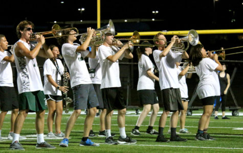 Mighty Eagle Band blow their horns at summer band performance