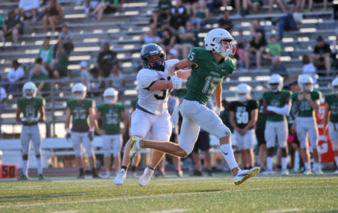 Prosper tackles Eaton </br>in football scrimmage