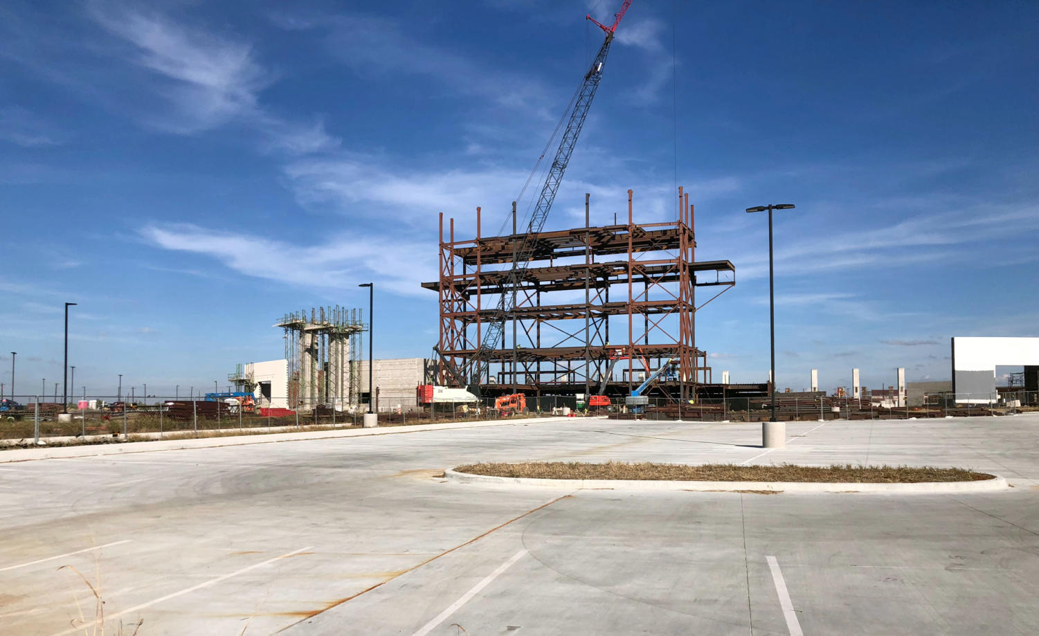 "The new stadium construction continues. The stadium and natatorium will open Aug. 1, 2019. ""While we know it's a football stadium, really it's way more than that,"" assistant superintendent Greg Bradley said. ""There's a lot of cool things we can do out there. We've talked about having movie nights there for kids."""