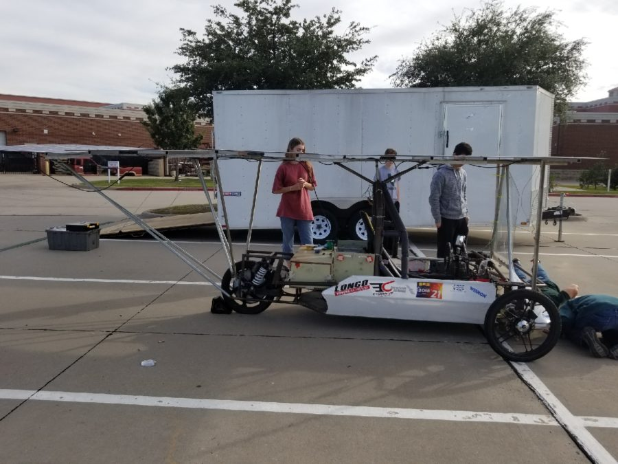 """The engineer club upgrades their car for the race in 2019. The race will take place at the Texas Motor Speedway. """"We named our car Apollo,"""