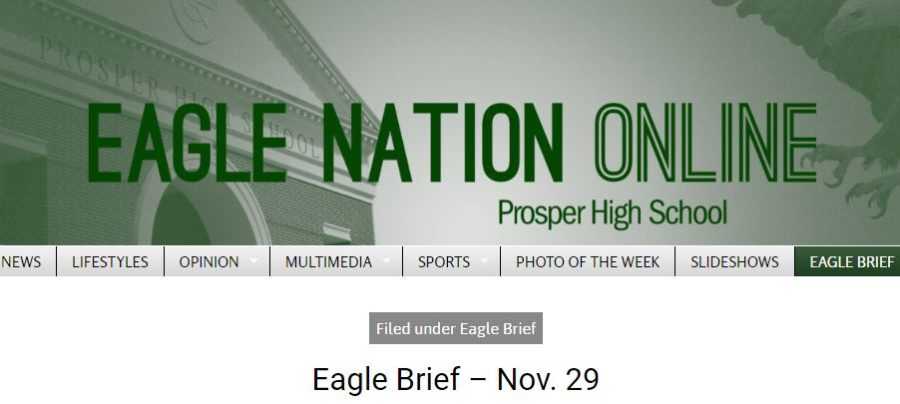 The+staff+of+Eagle+Nation+Online+brings+its+first+installment+of+the+%22Eagle+Brief.%22+In+this+spot+of+the+paper%2C+students+will+find+meeting+announcements+that+are+%22Upcoming%22+and+kudos+listings+that+readers+may+consider+%22Uplifting.%22+Then%2C+a+few+items+also+will+be+visible+on+the+%22Horizon%2C%22+as+well.+Readers+can+find+this+service-journalism+offering+daily+on+the+right+side+of+the+front-page+menu+bar.