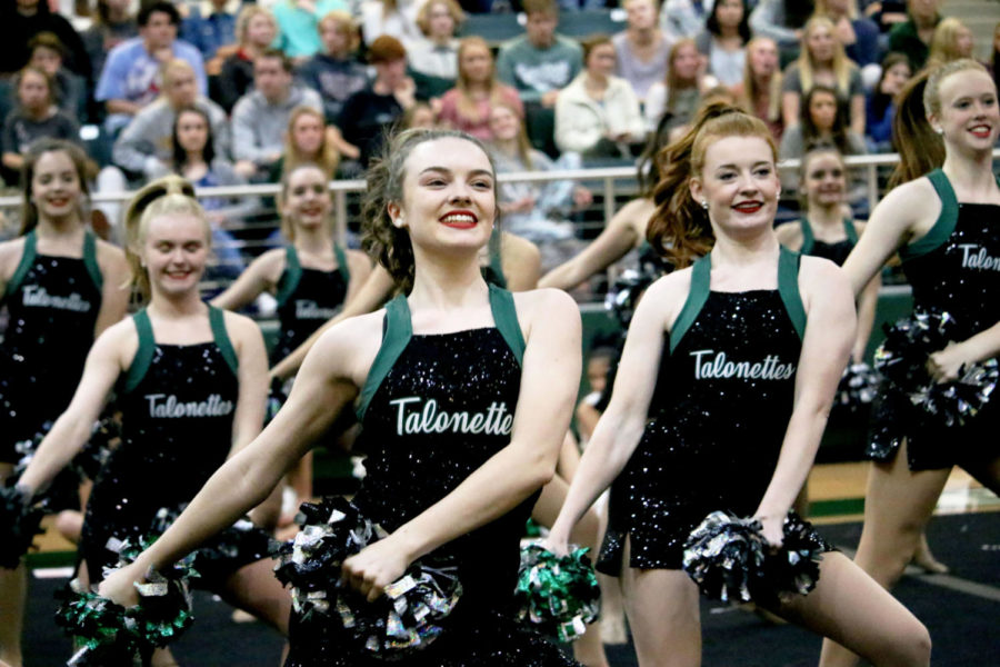 The+Talonettes+dance+at+each+pep+rally+and+sporting+event.+Tryouts+for+next+year%27s+team+will+take+place+in+Gym+2%2C+this+Saturday.+Dancers+may+also+tryout+to+be+a+Talonette+officer+as+well.+