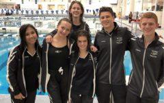 Swim & dive dominate competition