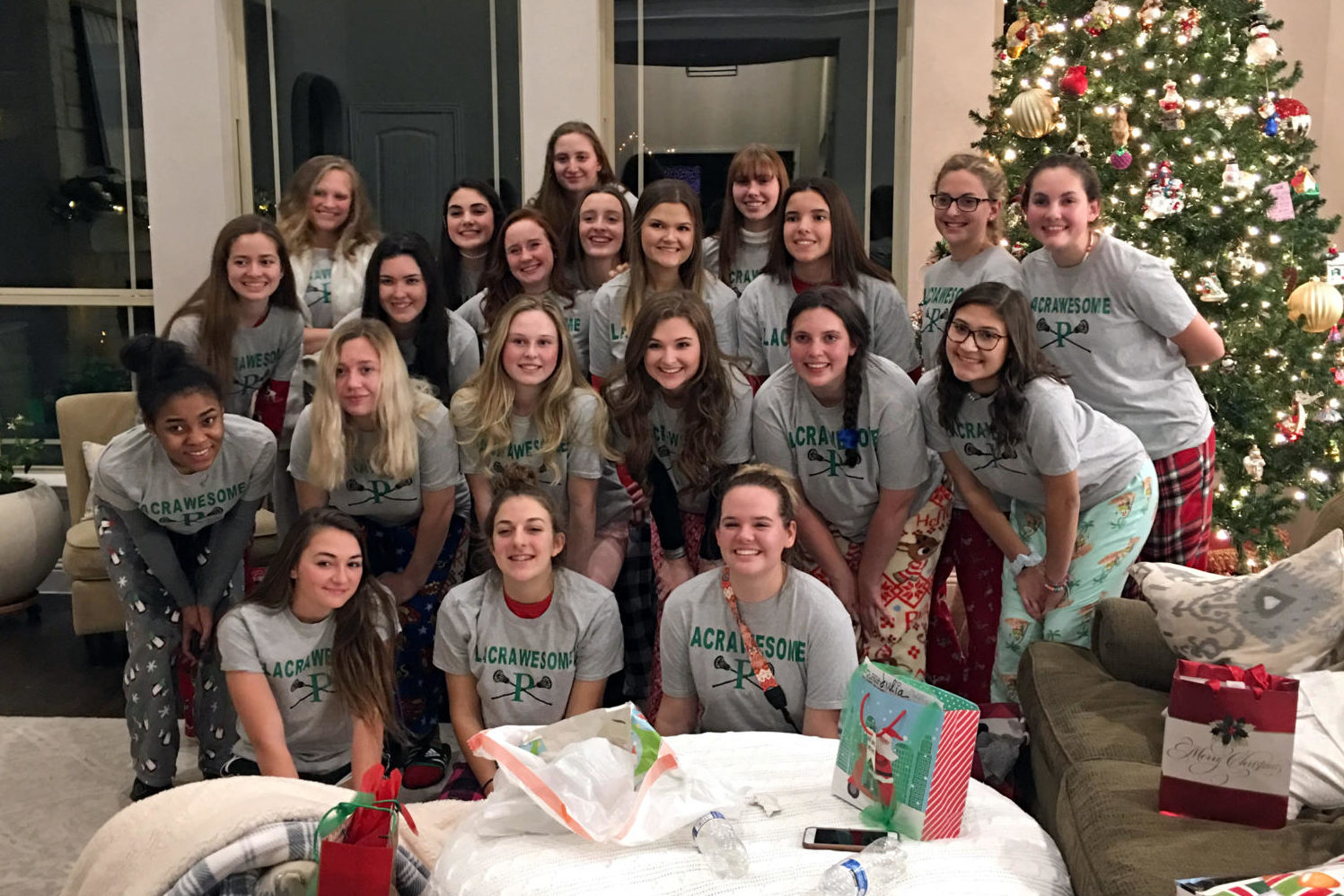 The girls' lacrosse team will volunteer for