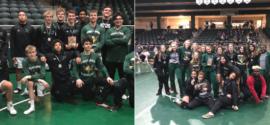 In this Eagle Brief featured Tweet, the wrestling team members available for a photo take a minute to document their performance at the Eagle Duals Holiday Invitational on Dec. 15. According to the Tweet, the boys came out in the champion's position, and the girls claimed second and third spots.