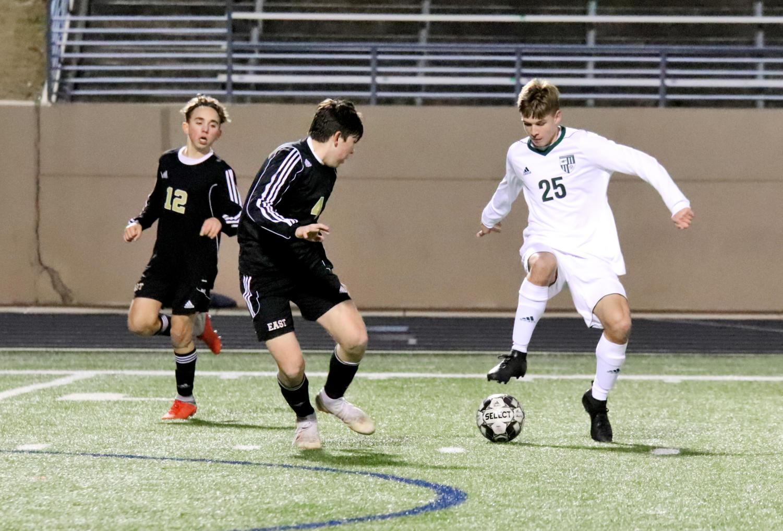 Varsity soccer wins in late comeback vs  Plano East, 3-2