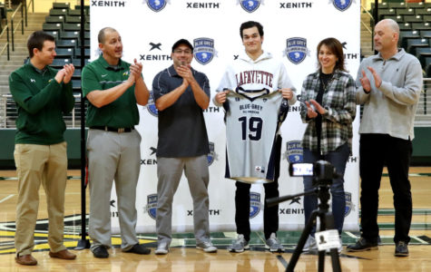 Senior Keegan Shoemaker receives jersey </br>for 'Blue-Grey All-American Bowl'