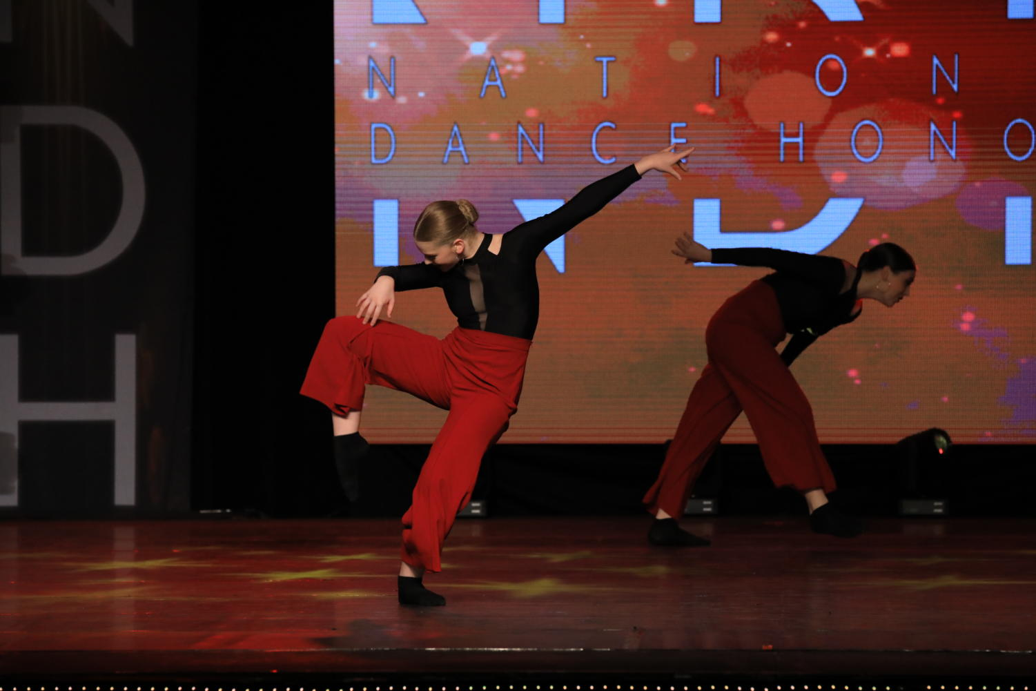Sophomore Maddie Moats dances on stage in Las Vegas, Nevada, for the National Dance Honors competition. She has danced for 13 years. Moats  said she enjoys dancing on stage, she also loves to spend time training in her dance studio.