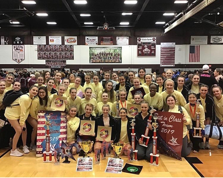 The+Talonette+dance+team++competes+in+the+American+Dance+and+Drill+competition.+They+were+awarded+Platinum+Best+Overall+for+their+team+dances.+%22I+like+being+there+all+day+and+having+a+lot+of+fun+with+all+my+friends%2C%22+freshman+Talonette+Anna+Reyes+said.