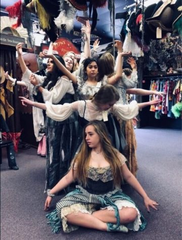 "The ""Stones"" practice their pose as a tree for Eurydice. The one-act play will be performed again Saturday March 23. The Prosper Eagle Theatre Company advanced to state last year (2018) and will compete in districts this year."