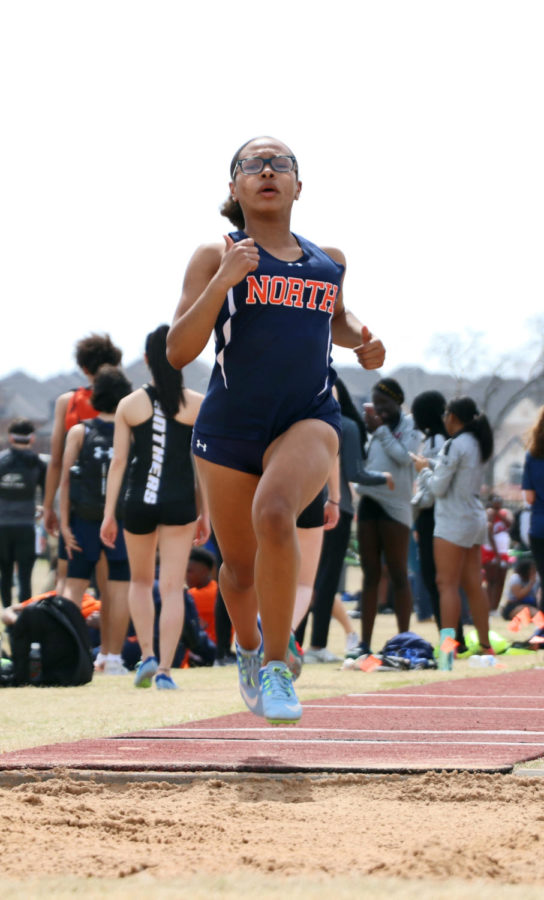 A+McKinney+North+competitor+heads+down+the+jumping+runway+at+the+Dan+Christie+Relays.+This+meet+marked+the+20th+year+of+the+relays%2C+and+the+hosting+-+Prosper++-+broke+multiple+school+records+in+multiple+events+throughout+the+day.+