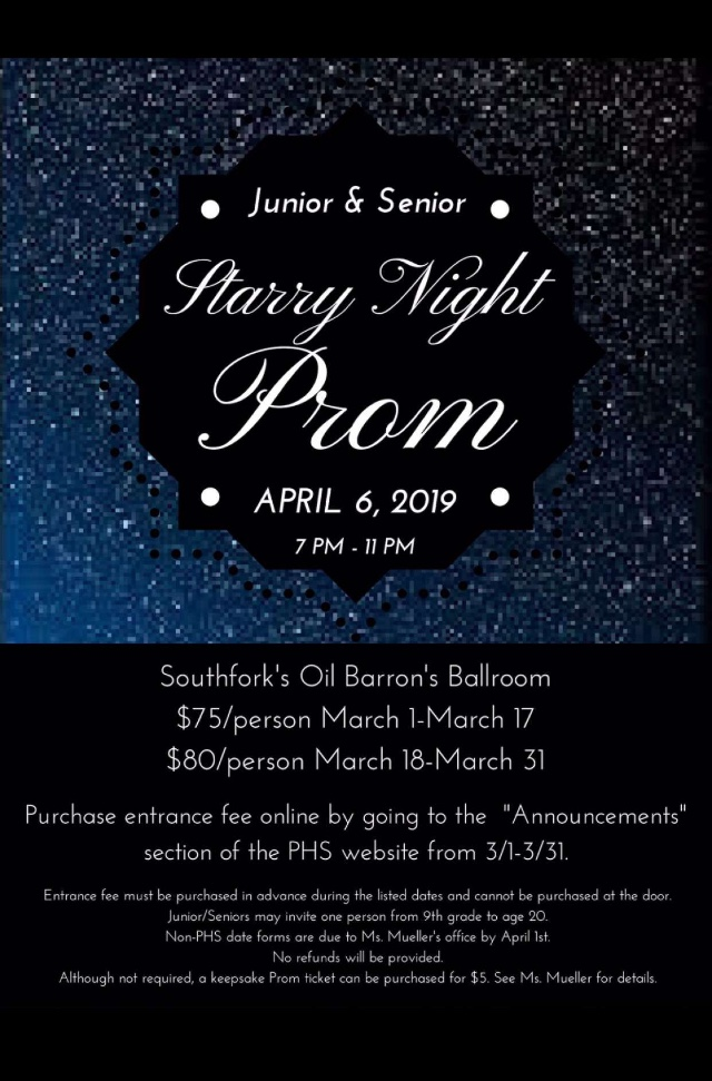 Prom is coming quickly! Students who are unable to afford a prom dress can stop by the school nurse for the 'Prom Shop.' The Prom Shop provides free, used prom dresses for any student.