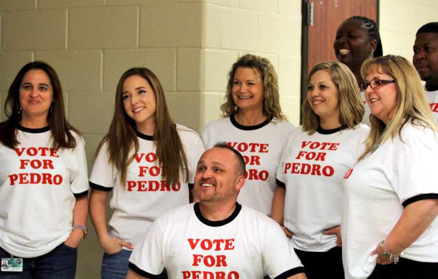 The+spring+pep+rally+featured+a+dance+competition+between+different+departments.+The+math+department+wore+shirts+adorned+with+the+phrase+%22Vote+for+Pedro%2C%22+a+reference+to+the+early+2000%27s+movie+%22Napoleon+Dynamite.%22+Math+came+in+second+to+the+science+department+at+the+competition.%0A%28Team+members+from+left+to+right%3A+Mrs.+Wood%2C+Mrs.+Park%2C+Mr.+Gomez%2C+Mrs.+Armstrong%2C+Mrs.+Robinson%2C+Mrs.+Soyemi%2C+Mrs.+Furr%2C+Mr.+Buckles%29