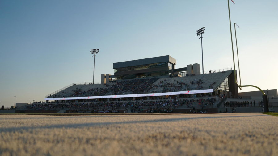 Friday Aug. 30 will mark the first varsity football game at the newly-opened Children's Health Stadium. The band, color guard and Talonettes will perform their shows during half-time. Read over the regulations guide for restrictions into what spectators can and cannot bring into the new facility.