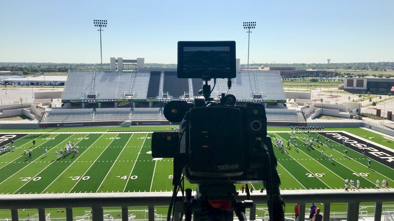 The view from the camera deck before Meet the Eagles. The event took place Aug. 17, and was the official opening of the Prosper ISD Children's Health Stadium. The event introduced 2019-2020 student athletes.