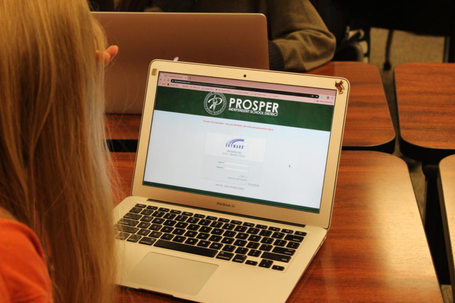 Columnist Maddie Moats stares at the skyward login page. Skyward and other grade programs, the website and the mobile app, are a big part of education today. In this article, Moats explains her reasoning for students to obsess less over their scores.
