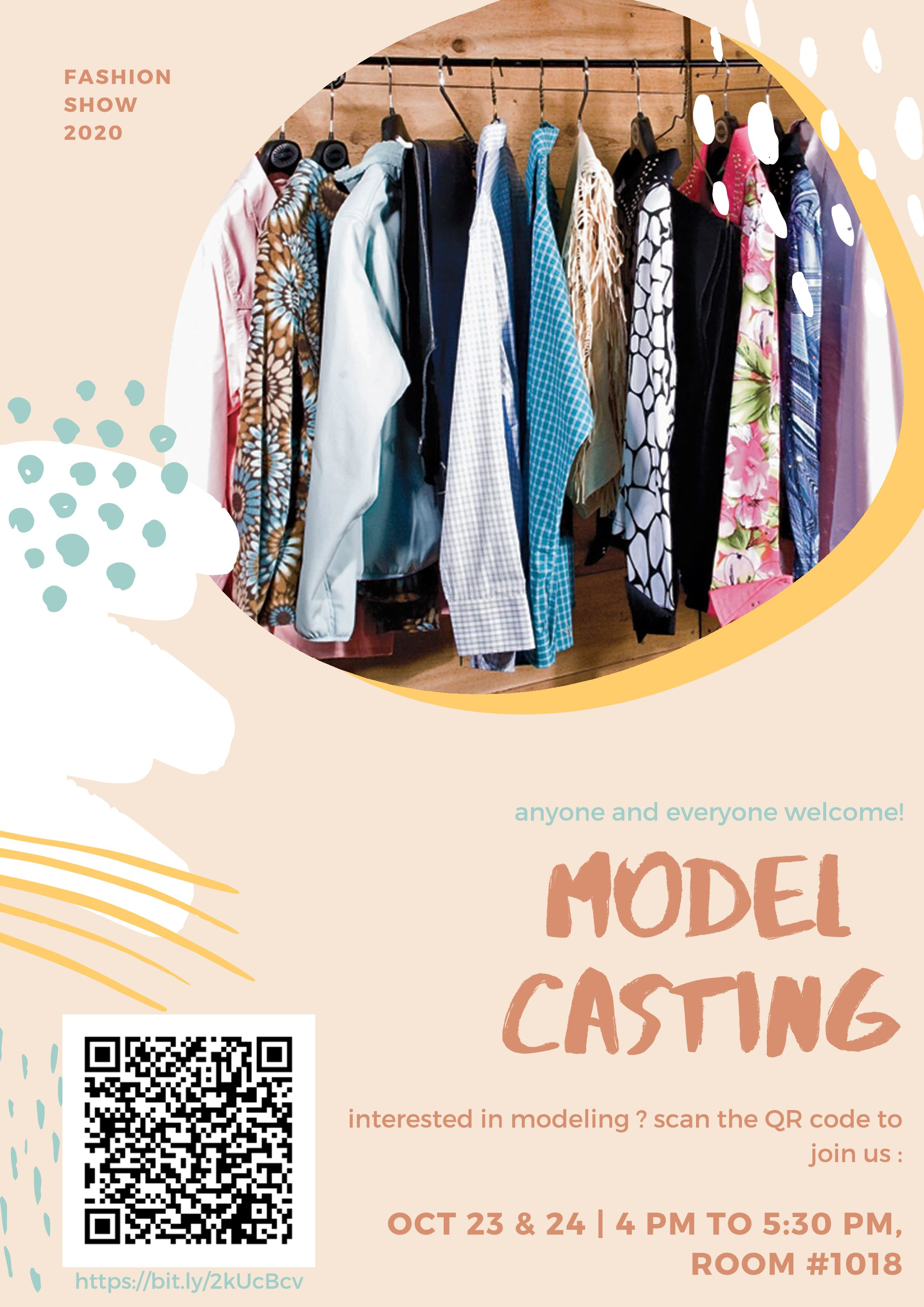 Fashion II class hosted model castings today and Wednesday at 4 p.m. in room 1018. This is the first year the Fashion II class held auditions for models.
