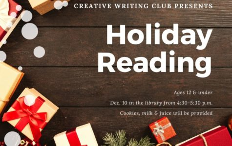 Creative Writing Club to read holiday books to kids
