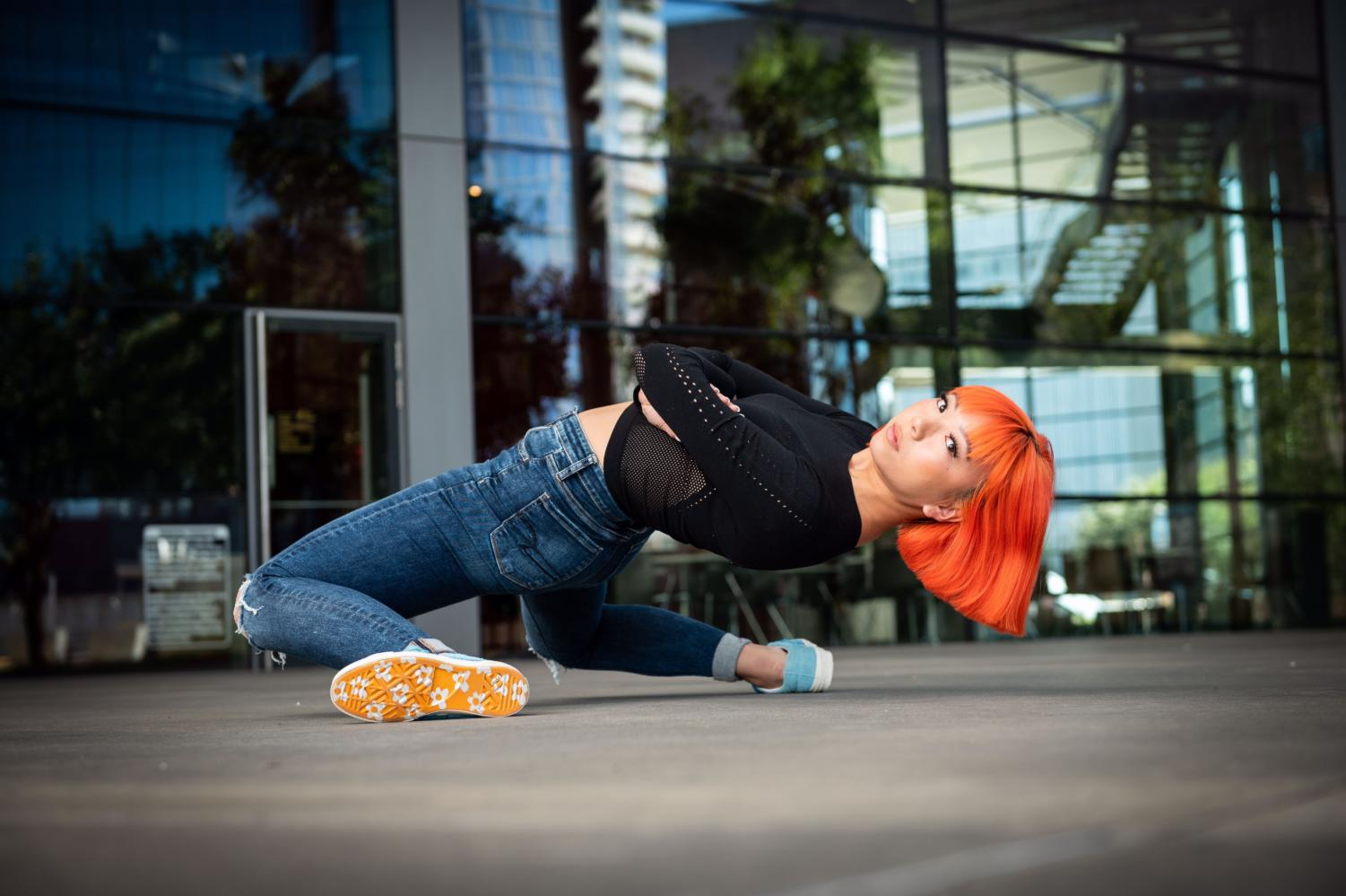 Senior Madison Lee poses for a hip hop photoshoot. Lee has been part of The Officials dance crew for two years and does hip hop performances and competitions.