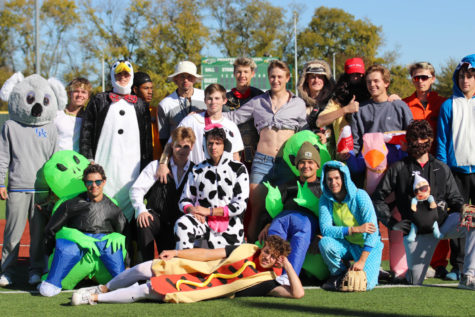 Baseball 'bats' in Halloween scrimmage