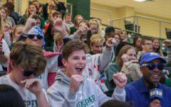 Students cheer at CBS 11 pep rally