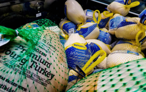 Turkeys at the Gates of Prosper Walmart wait to be bought and cooked for Thanksgiving meals this coming week. DaNita Griffin, columnist, illustrates her view on common Thanksgiving dishes.