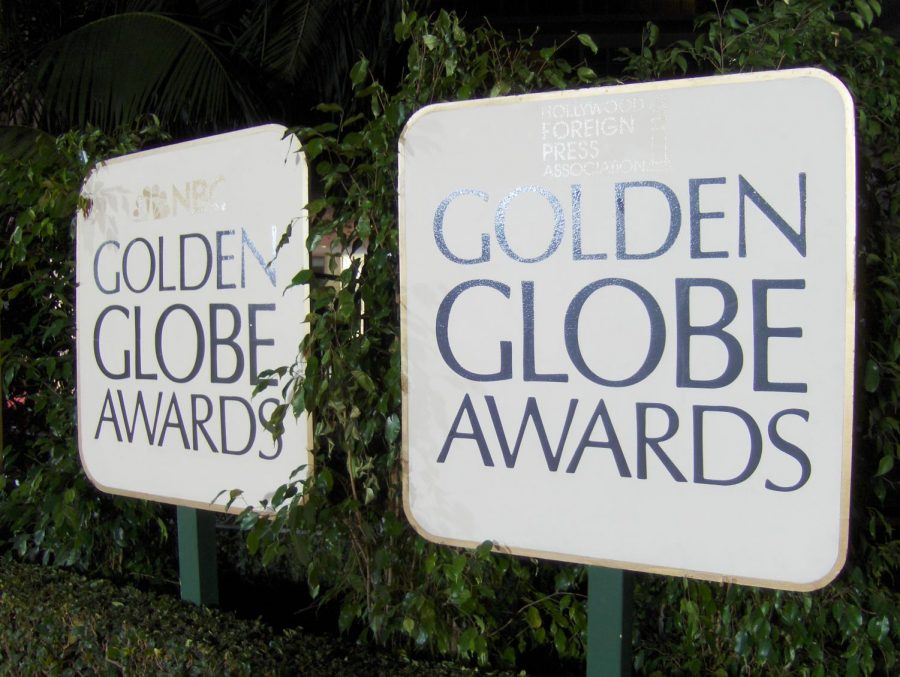 The sign outside the red carpet of the Golden Globe Awards. The 77th Annual Golden Globes will take place Jan. 5, 2020. No females were nominated for best director, best screenplay, best film.
