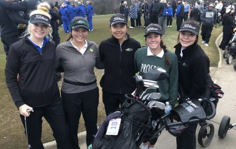 Prosper's Lady Eagle Golf team started their spring season. They competed agains Marcus High School. They competed  at the Vanessa Close Invitational.