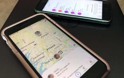 Two cell phones show Life 360 notifications and location maps. As of 2018, 18 million families use Life 360.