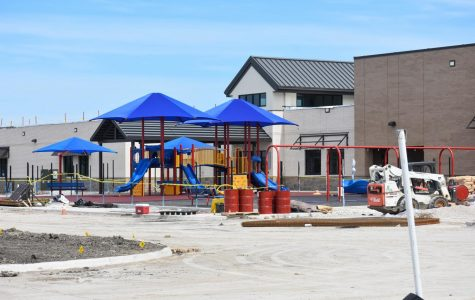 The playground equipment at the new Sam Johnson Elementary School stands ready for the children coming fall of 2020. Sam Johnson is the 12th elementary school for Prosper ISD. It will be located at the north end of the Mustang Lakes residency.