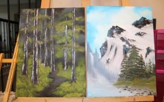 Sophomore Christi Norris finds her cure for quarantine anxiety by following Bob Ross to learn how to use oil paints.