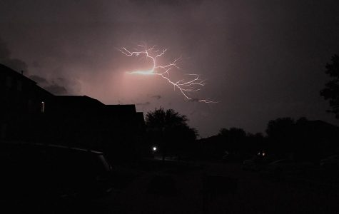 Lightning strikes across the sky over North Texas. According to Weather.com  meteorologists, isolated thunderstorms can be expected today, May 12, followed by clouds tomorrow.  Photojournalist Jesse Plaster took this shot  Monday, May 4.