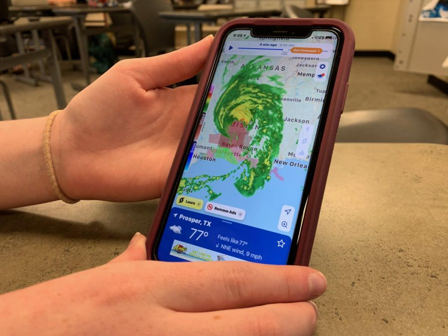 As Hurricane Laura strikes southern Louisiana and Texas, a student watches the hurricane's path. Teachers, students and community members here took action to help loved ones and to protect property. Hurricane Laura was updated Wednesday afternoon to a Category 4 storm. Once making landfall, the storm brought winds of up to 150 mph.