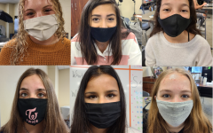 To follow school guidelines, ENO staff members wear their masks during class. The district announced on March 4 that students will still be required to wear masks inside the school. Face coverings are required inside the building, but not outside.