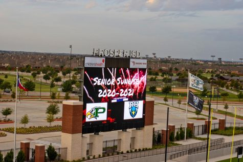 The endzone screen at the PISD Children