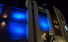 To show support to local and national police officers, Children's Health Stadium is lit blue. The stadium will be lit blue for the majority of September as a reminder of all the good that police officers do for the community.  Not only is the PISD stadium being lit blue but several businesses and families are lighting their houses and buildings blue to show their support of men and women in uniform.