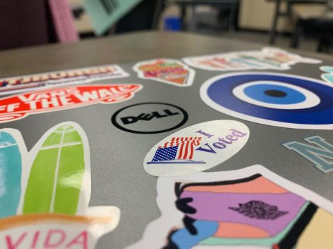 """As the 2020 presidential election nears, sophomore Neena Sidhu has placed an """"I Voted"""" sticker on her laptop. Another student, senior Cole Kindiger, has created the non-profit group called """"Schools of Thought,"""" which tries to get students involved in the political process.   """"I think it"""