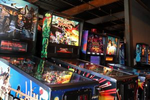 Pinball machines await their next player on the lower floor. Users pay an upfront fee of $12 and get access to every game, new or old, with no limit to how much time they spend in the arcade. No age restrictions exist until 9 p.m., when the arcade shifts to ages 18 and up only.