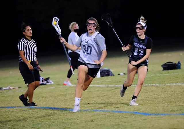 Playing+her+defense%2C+No.+17+Olivia+Frye+follows+her+opponent+who+has+the+ball.+Olivia+plays+midfield+for+the+Prosper+team.+Frye+will+be+attending+Rockhurst+University+in+the+fall.+Their+lacrosse+team+is+a+part+of+the+Great+Lakes+Valley+Conference.