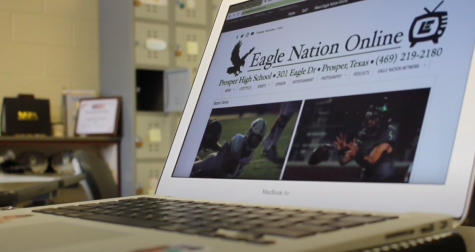The front page of Eagle Nation Online shines on writer Emma Hutchinson
