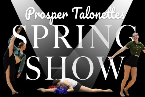 In a digitally constructed image made by junior graphic designer Richey, three of the Talonettes are spotlighted in photos from three of their competition dances. The photos were also taken by Caitlyn Richey. Each of the dances pictured will be performed Saturday night at the teams annual Spring Show.