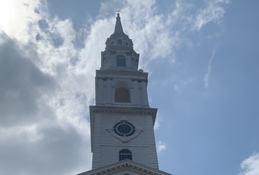On a tour of Dallas Baptist University, senior Gabriella Winans visits Pilgrim Chapel, the campus church. The chapel opened in 1878, and still holds service today. Dallas Baptist University will be attending PISDs College Night, which will be hosted by Rock Hill Monday, Sept. 13, from 7 p.m. to 8:30 p.m.