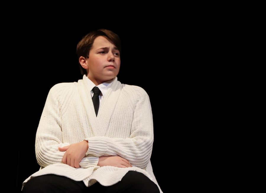 The History Professor, played by freshman Nixon Rigoni, sits with his arms crossed in his lap in his first scene. Rigoni said that if he had to play another character, hed want to play the Gravedigger. I love it and cant wait to put on a great production, Rigoni said.